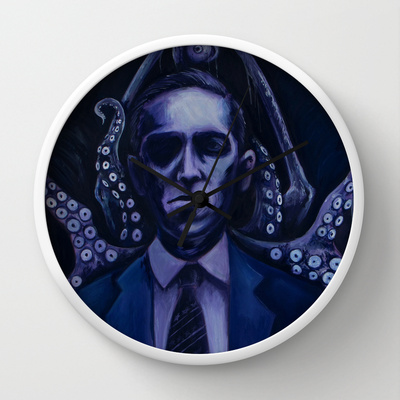 Lovecraft by Mrtn Ljmn  WALL CLOCK