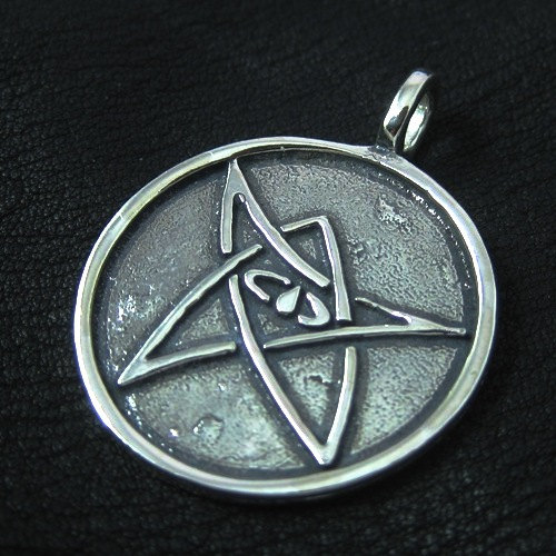 Silver Elder Sign pendant
