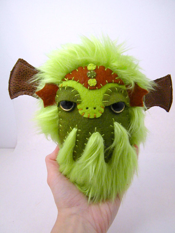 cthulhu plush toy green