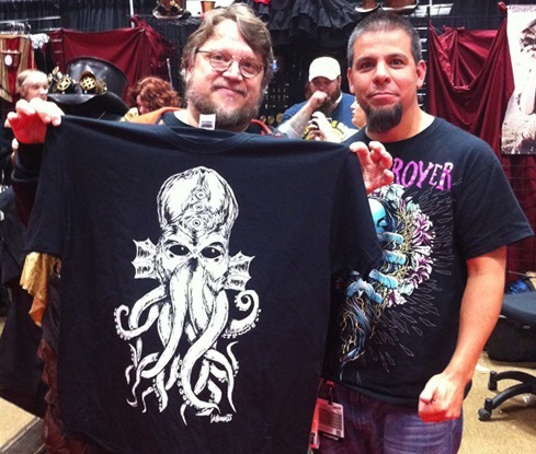 Guillermo del Toro with Cthulhu