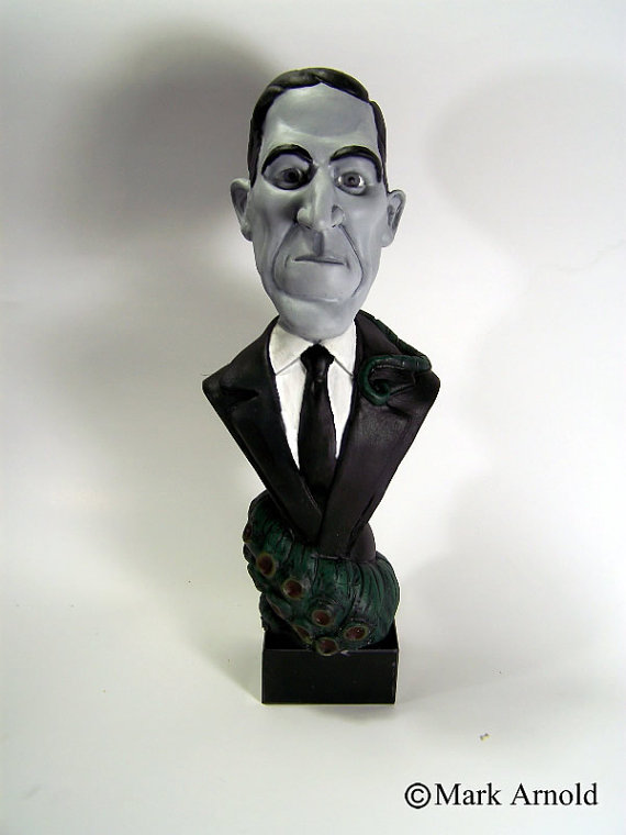 lovecraft caricature bust