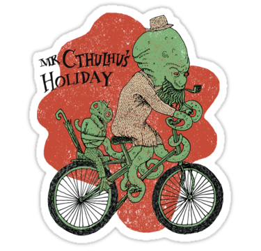 sticker cthulhu holiday