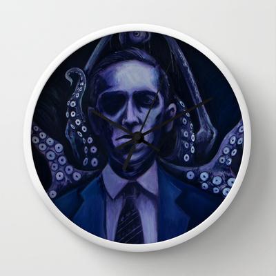 Lovecraft by Mrtn Ljmn  WALL CLOCK