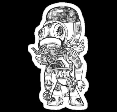 Cthulhu sticker,375x360