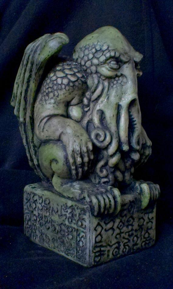 green Cthulhu idol
