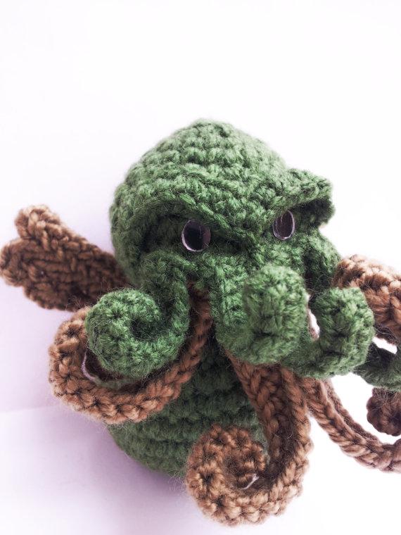 cthulhu crochet toy