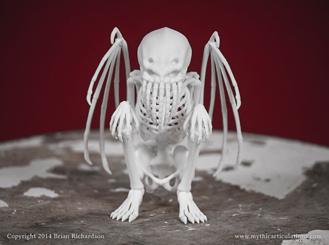 Cthulhu idol skeleton
