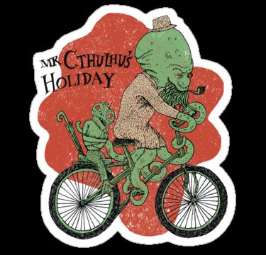 sticker cthulhu holiday
